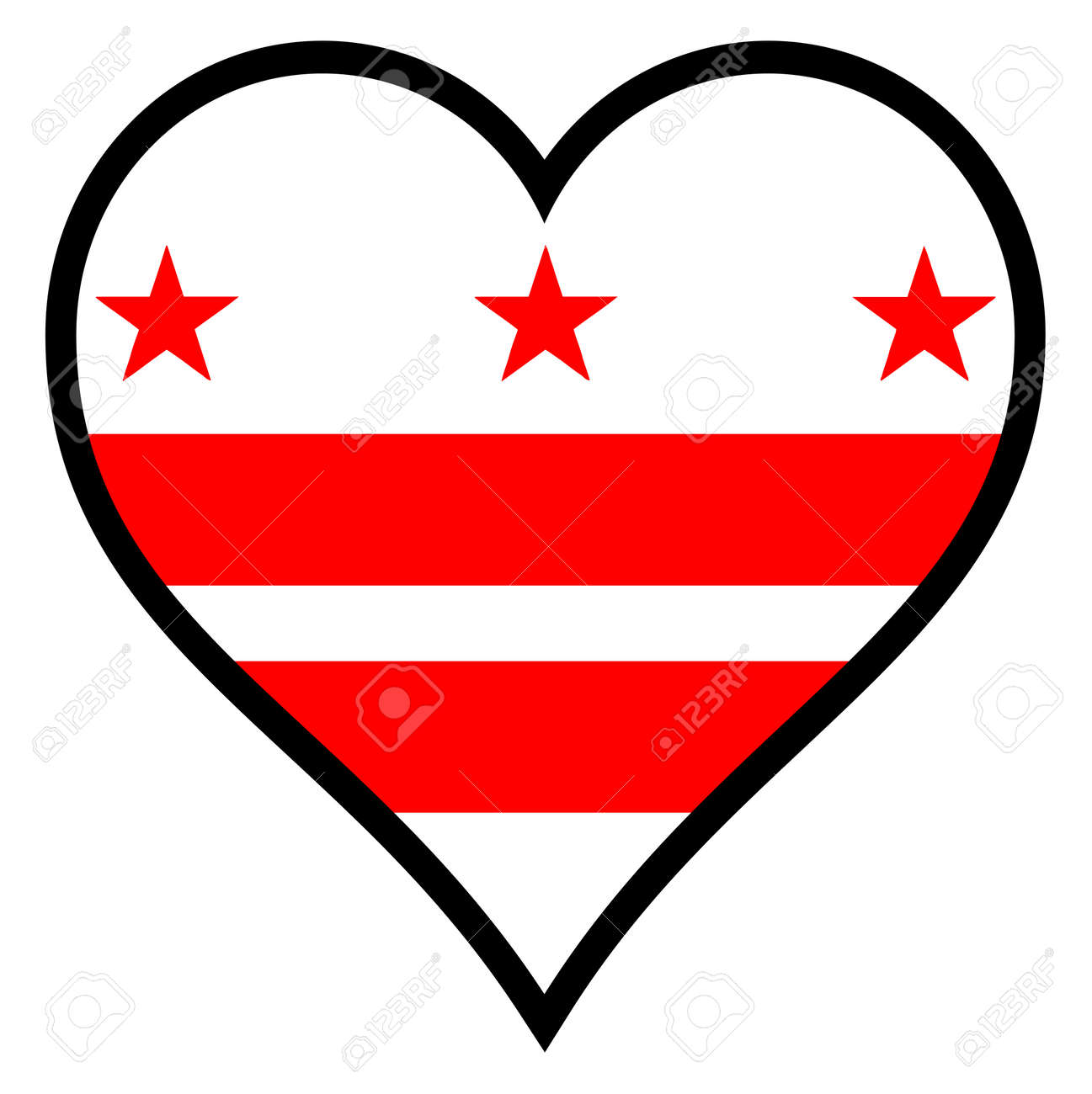Washington dc flag within a heart all over a white background washington dc flag within a heart all over a white background stock vector 34480611 biocorpaavc Images