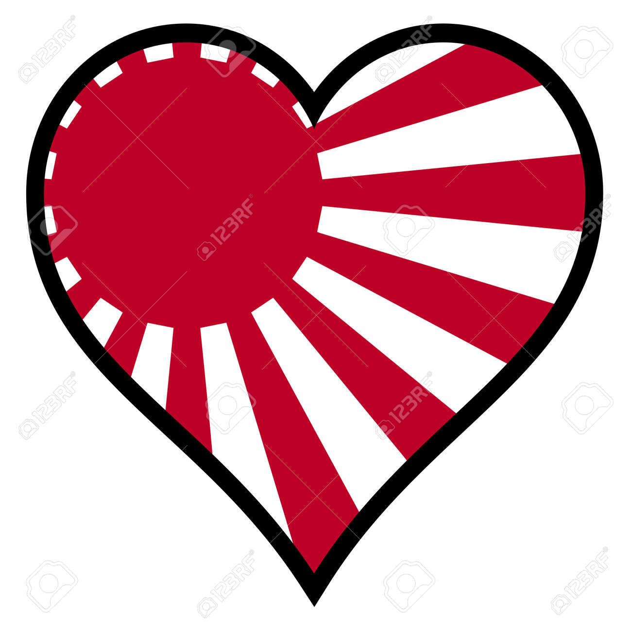 Japanese flag within a heart all over a white background royalty japanese flag within a heart all over a white background stock vector 34480617 biocorpaavc Images