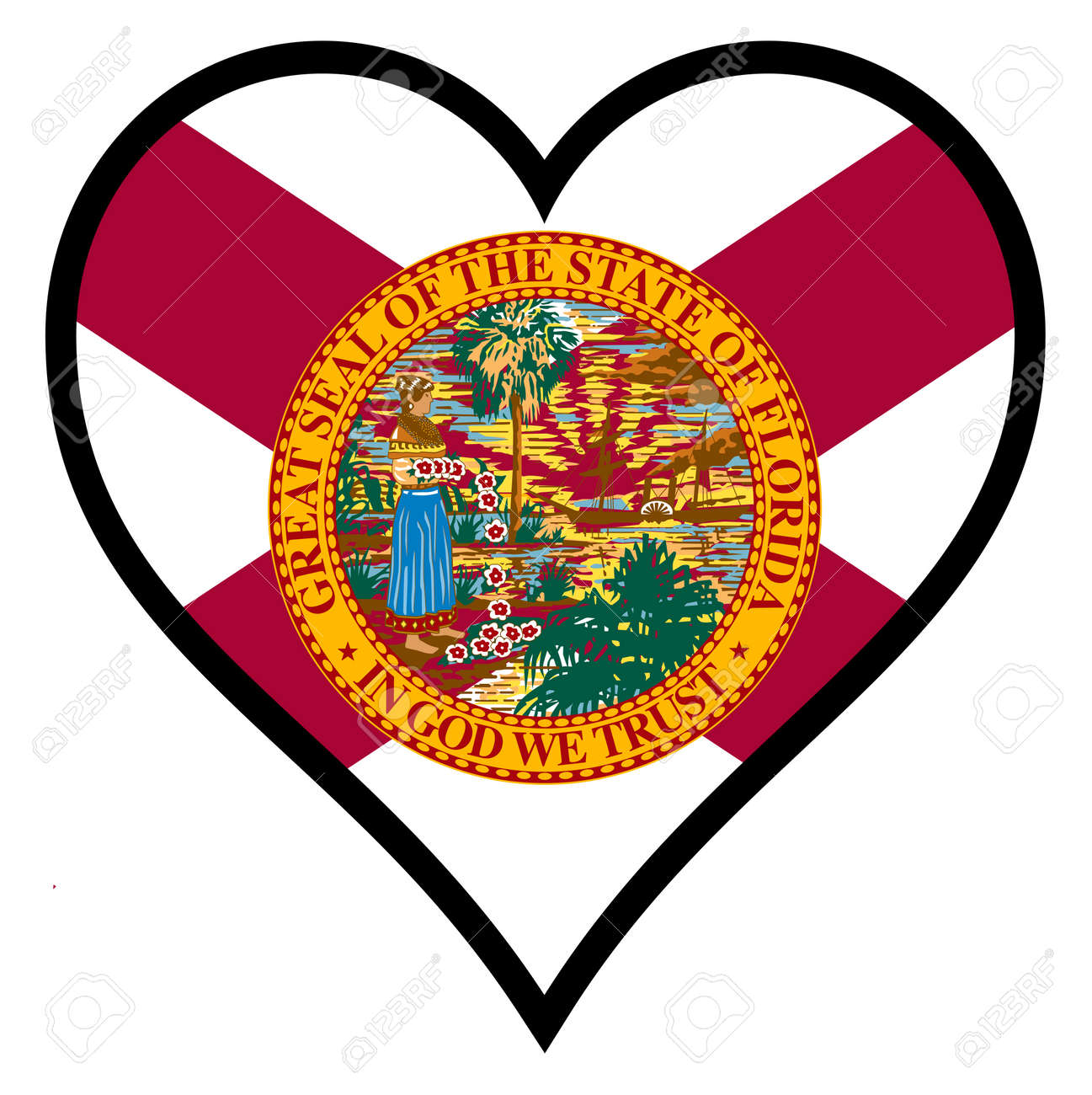 Florida state flag within a heart all over a white background florida state flag within a heart all over a white background stock vector 34518283 biocorpaavc Images