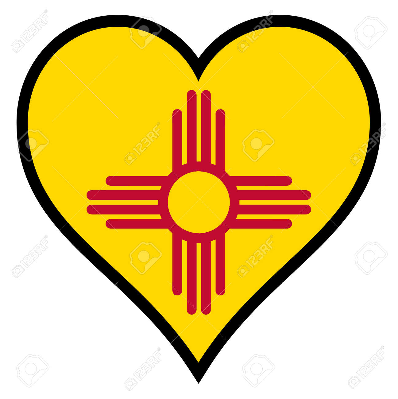 New mexico state flag within a heart all over a white background new mexico state flag within a heart all over a white background stock vector 34536609 biocorpaavc Images