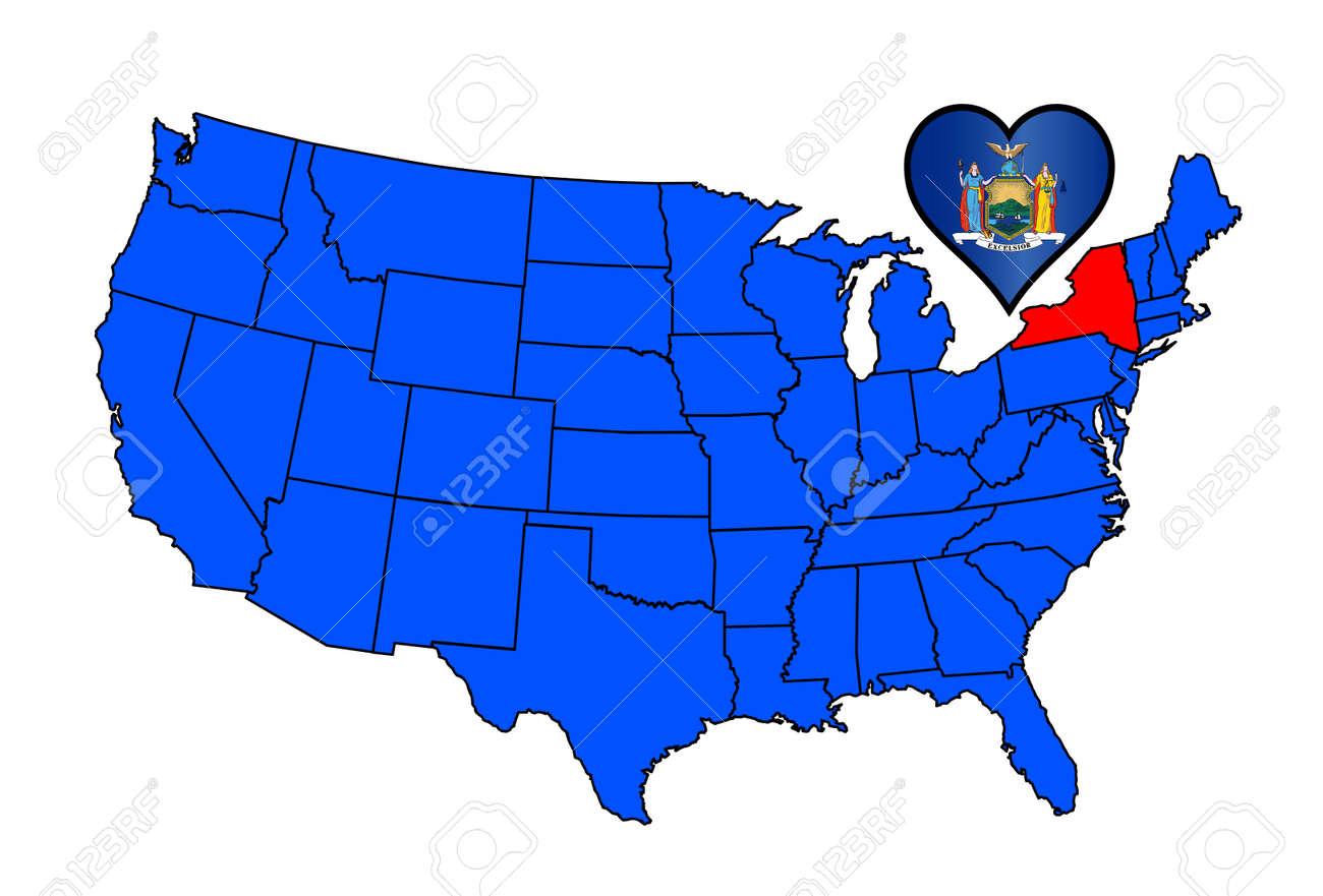 United States Hand Drawn Type Map Hand Drawn Type United States - Us map of red and blue states