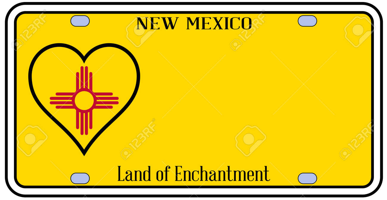 New mexico state license plate in the colors of the state flag new mexico state license plate in the colors of the state flag with the flag icons buycottarizona