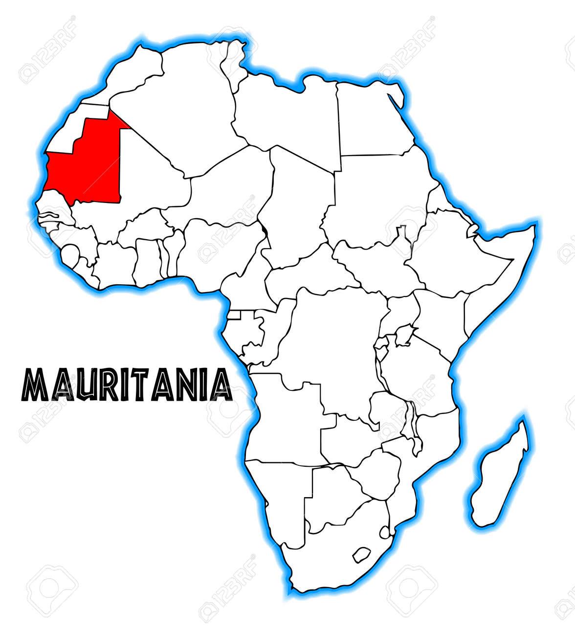Resultado de imagen para mauritania mapa africa