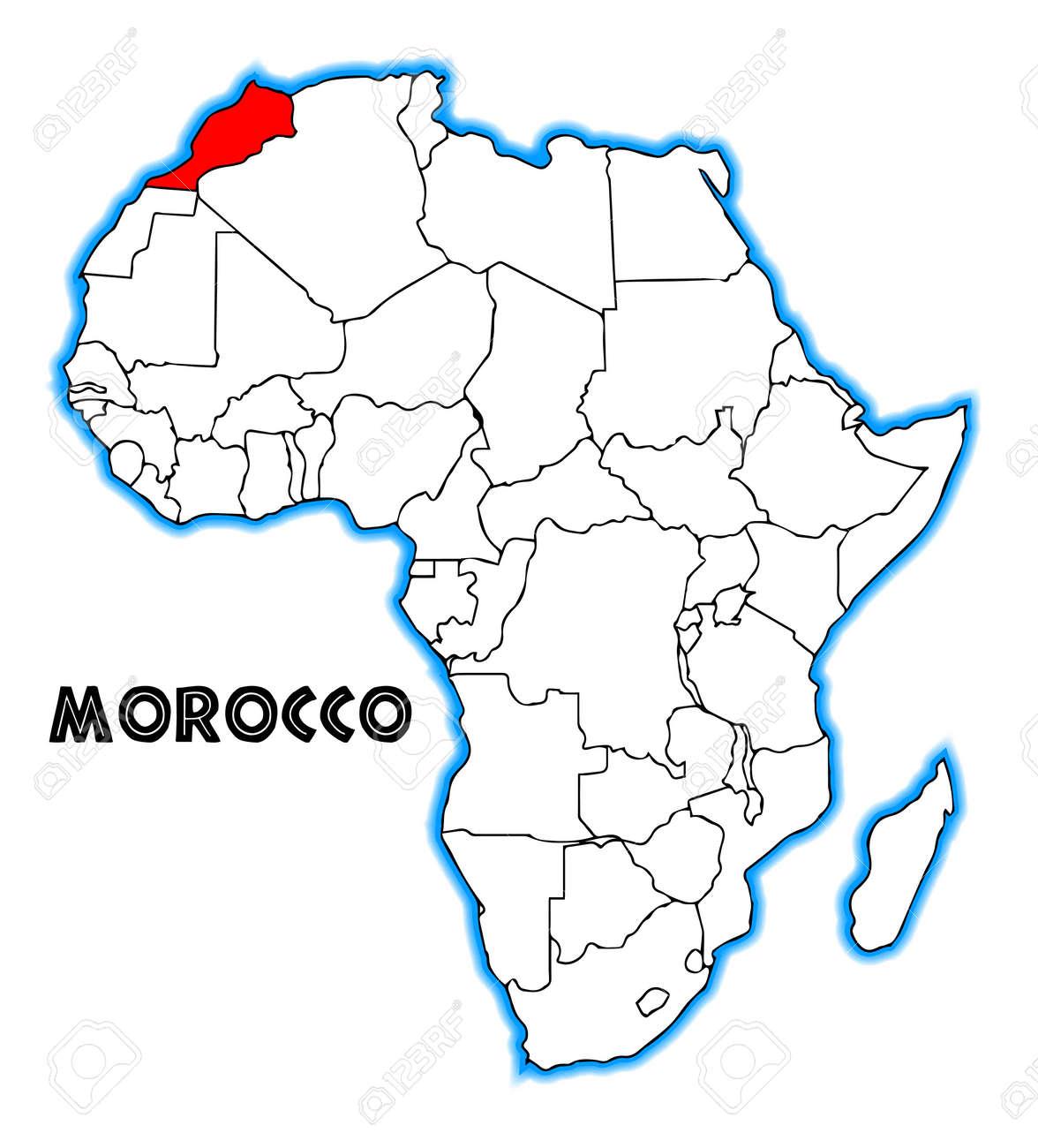 Maroc carte Afrique
