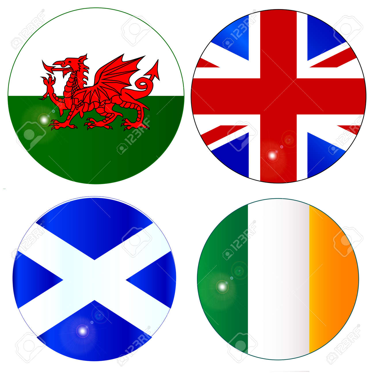 the official flag for scotland wales eire ireland and england