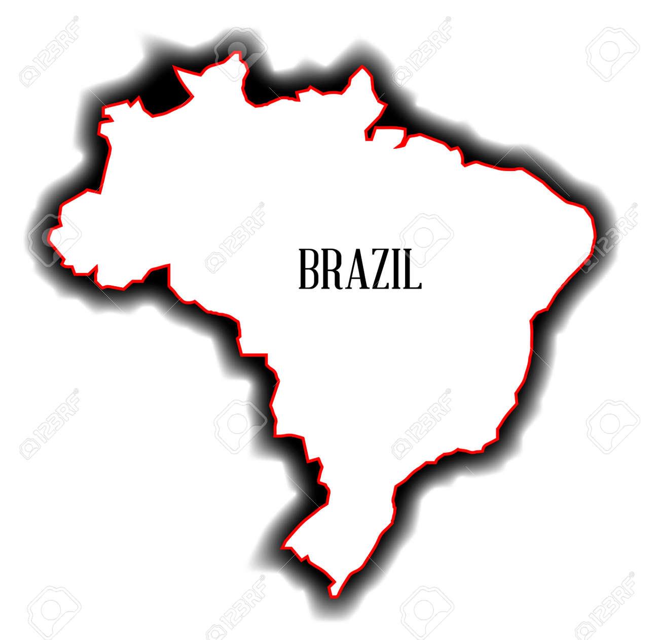 Carte Muette Bresil.Carte Muette Du Pays Sud Americain Du Bresil Clip Art Libres De