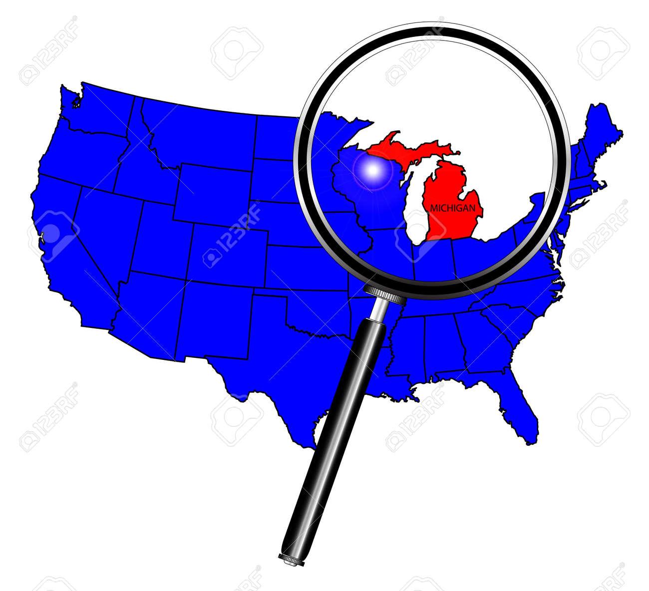 Us Map Michigan Globalinterco - Us map indinapolia