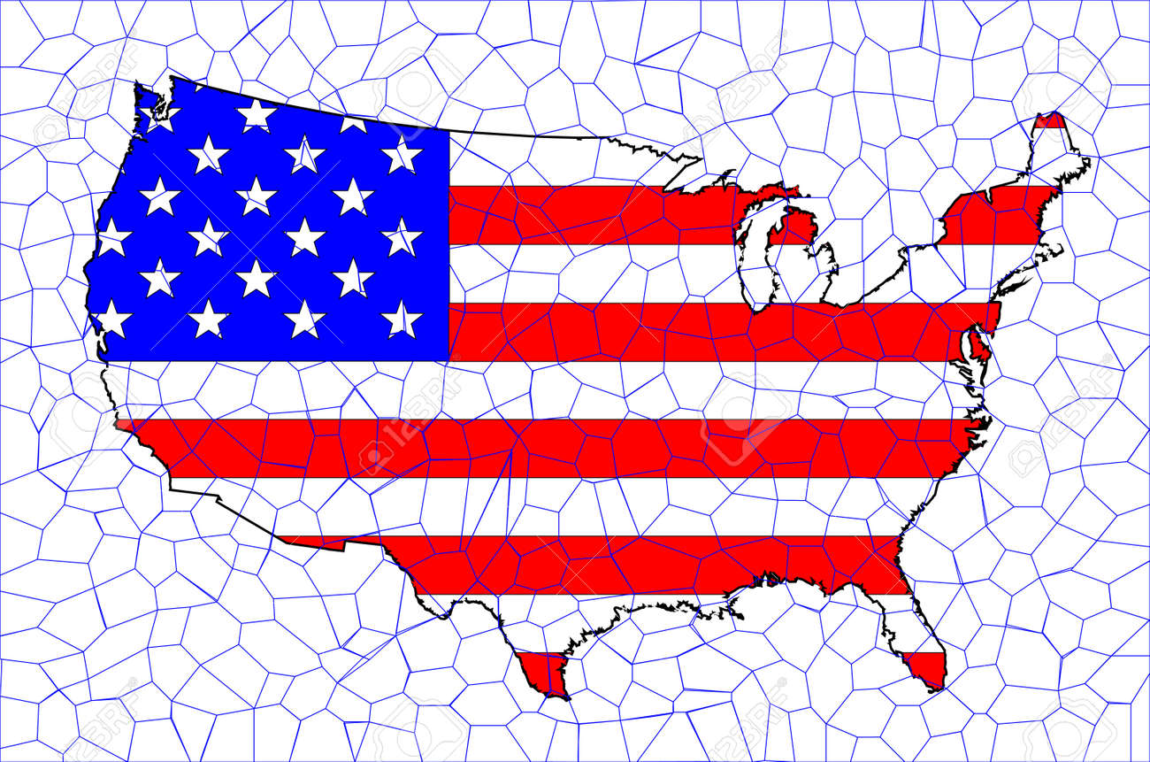 An outline silhouette map of The United States of America showing..