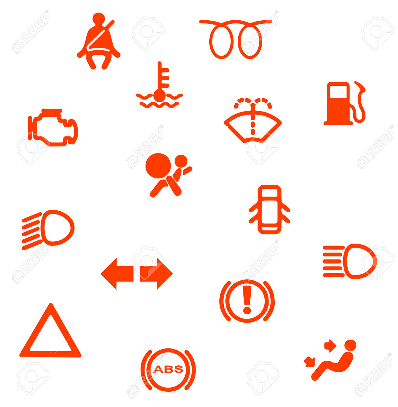 A collection of automobile dash warning light symbols royalty free a collection of automobile dash warning light symbols stock vector 43414914 buycottarizona Image collections