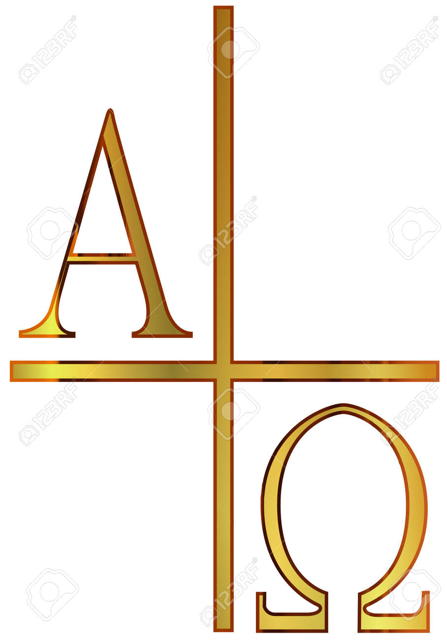 The A phs Omega Letters From The Greek Alphabet In Gold Royalty
