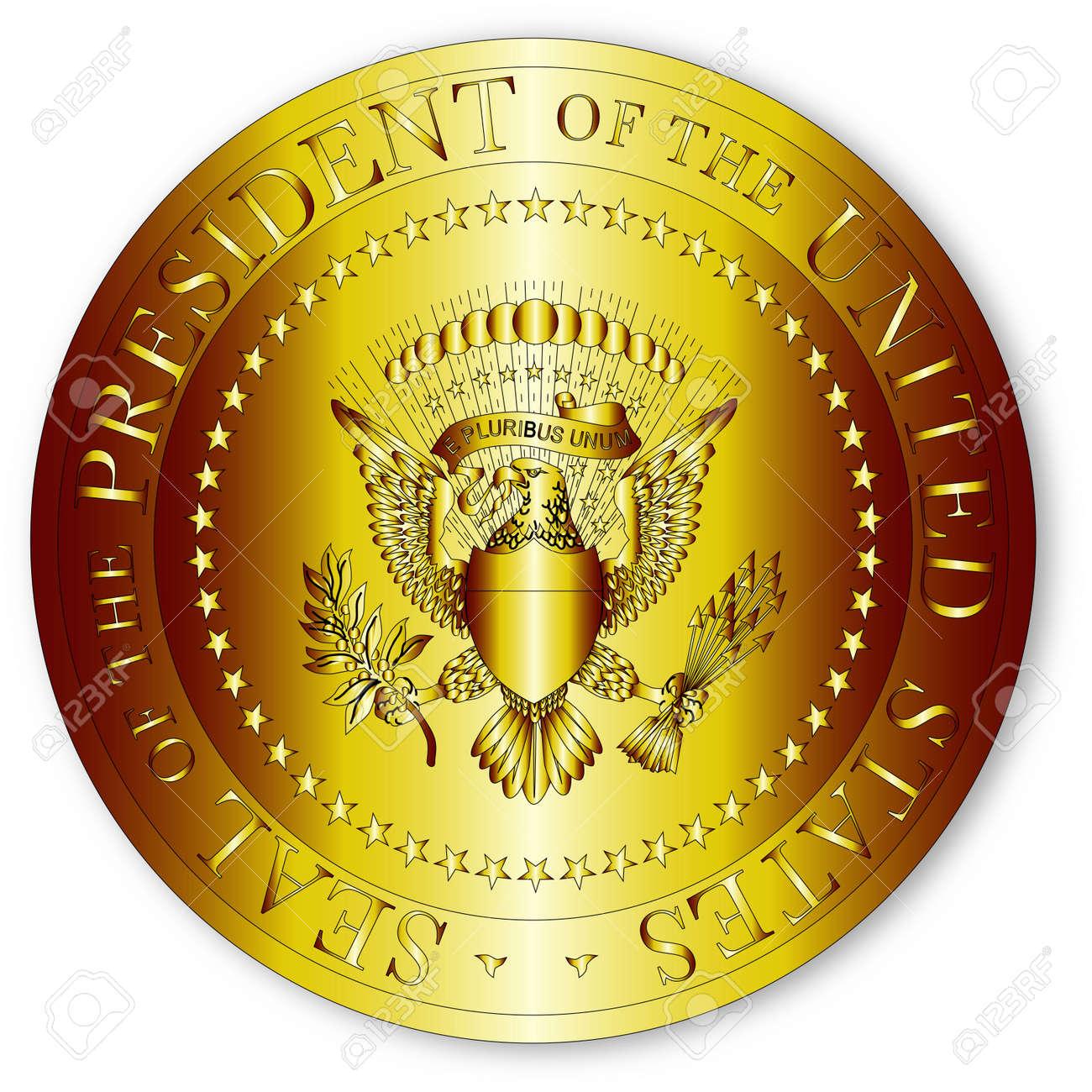 Una Representación Del Sello Del Presidente De Los Estados Unidos De ...