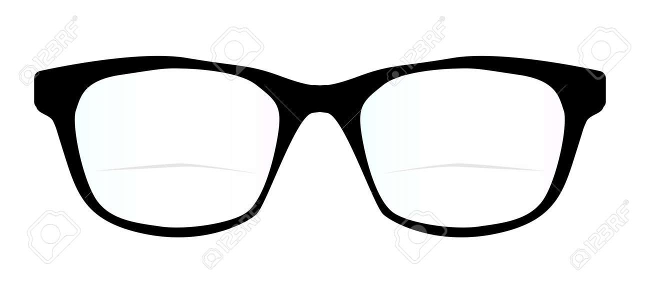 Un Par De Gafas De Montura Negra óptica De Un Fondo Blanco ...