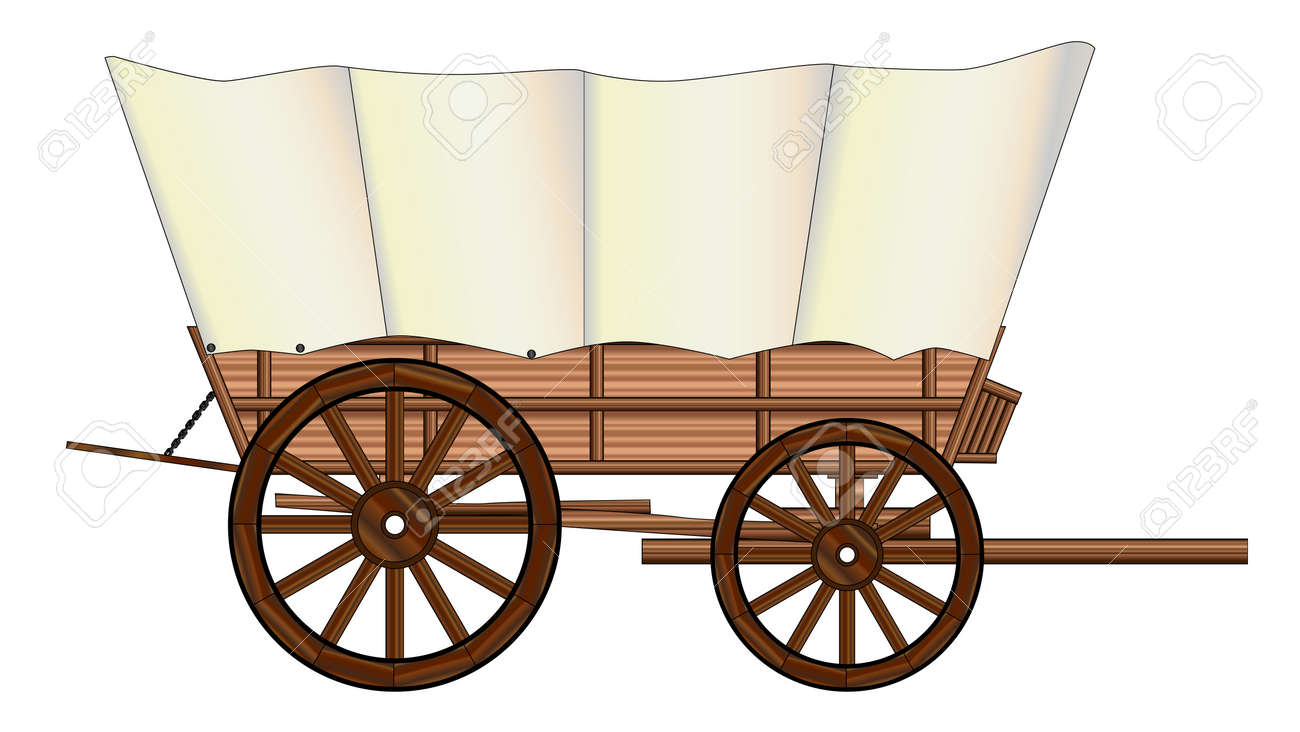 A Typical Wheel From A Western Covered Wagon Royalty Free Cliparts ...