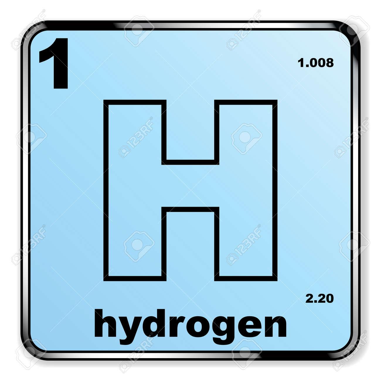 El hidrgeno extrado de la tabla peridica de los elementos sobre el hidrgeno extrado de la tabla peridica de los elementos sobre un fondo blanco foto de urtaz Image collections