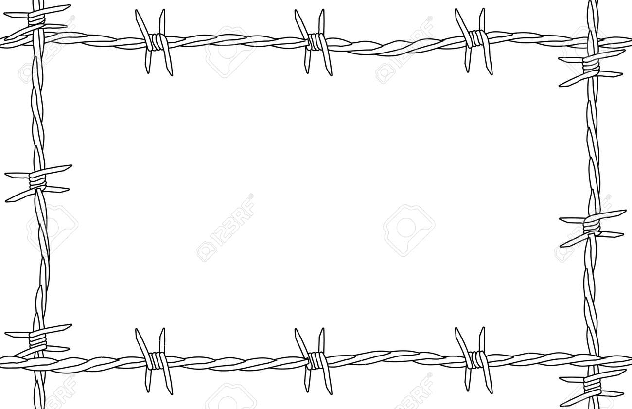 A Barbed Wire Background As A Page Border Royalty Free Cliparts ...