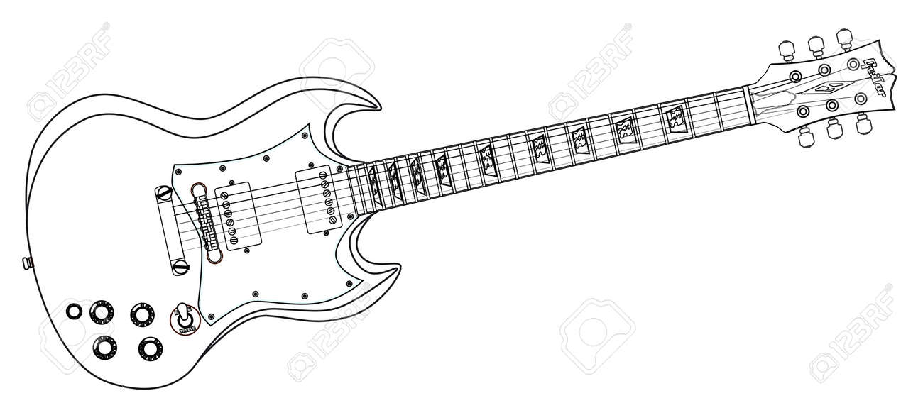 Electric Guitar Solid Drawing Best Electrical Circuit Wiring Diagram