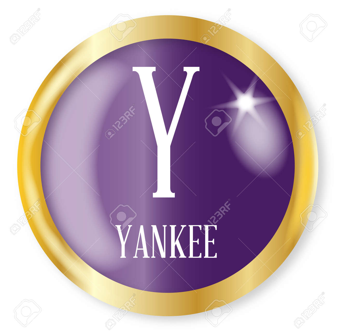 Y For Yankee Button From The Nato Phonetic Alphabet With A Gold Royalty Free Cliparts Vectors And Stock Illustration Image 77102436