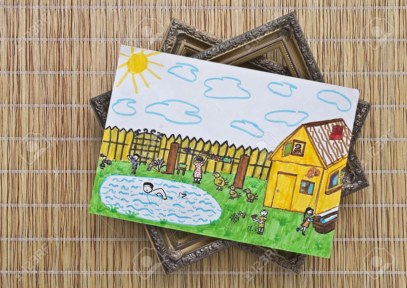 Dibujo Para Niños S Pintado Colores Y Marcos De Cuadros Son Sobre ...
