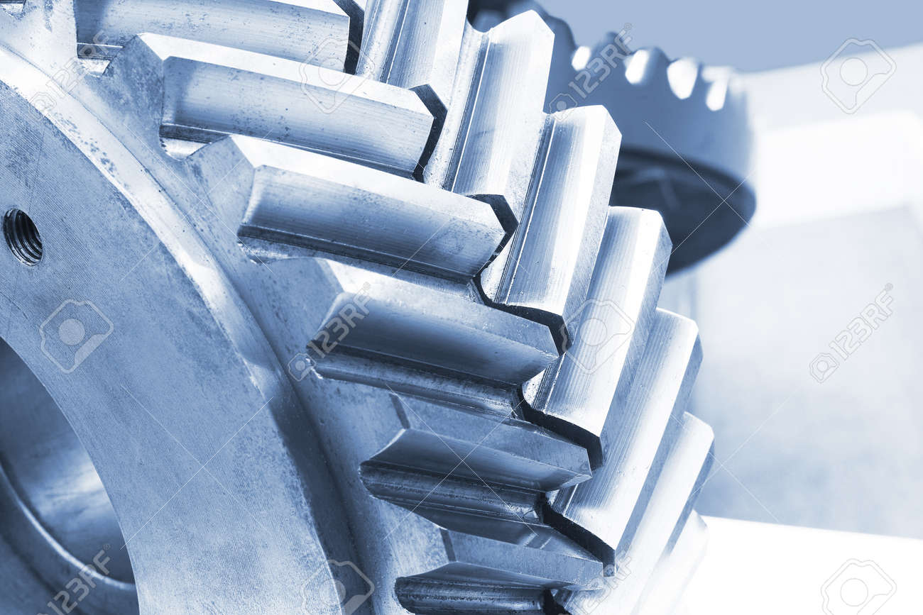 Strong steel gear close-up Stock Photo - 16452613