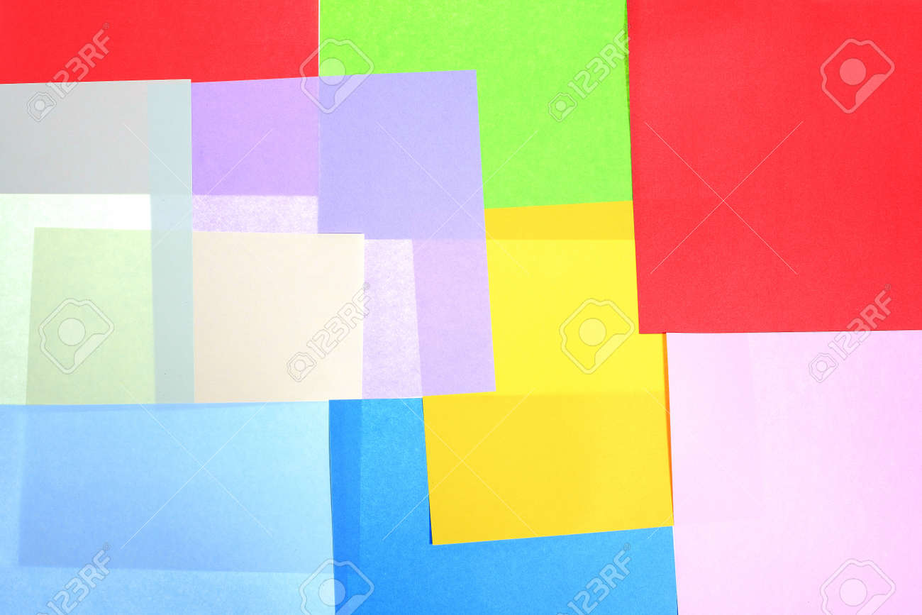 Abstract backgrounds superimposed together colors paper texture Stock Photo - 17029610
