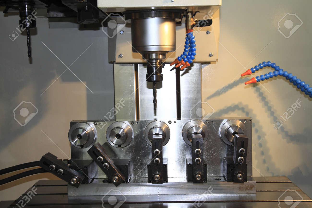 CNC machine at work Stock Photo - 20618917
