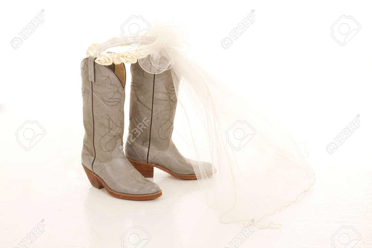 western style wedding dresses with cowboy boots wedding cowboy boots Cowboy Boots For Wedding Party Jhenderson Studios Mixed Gender