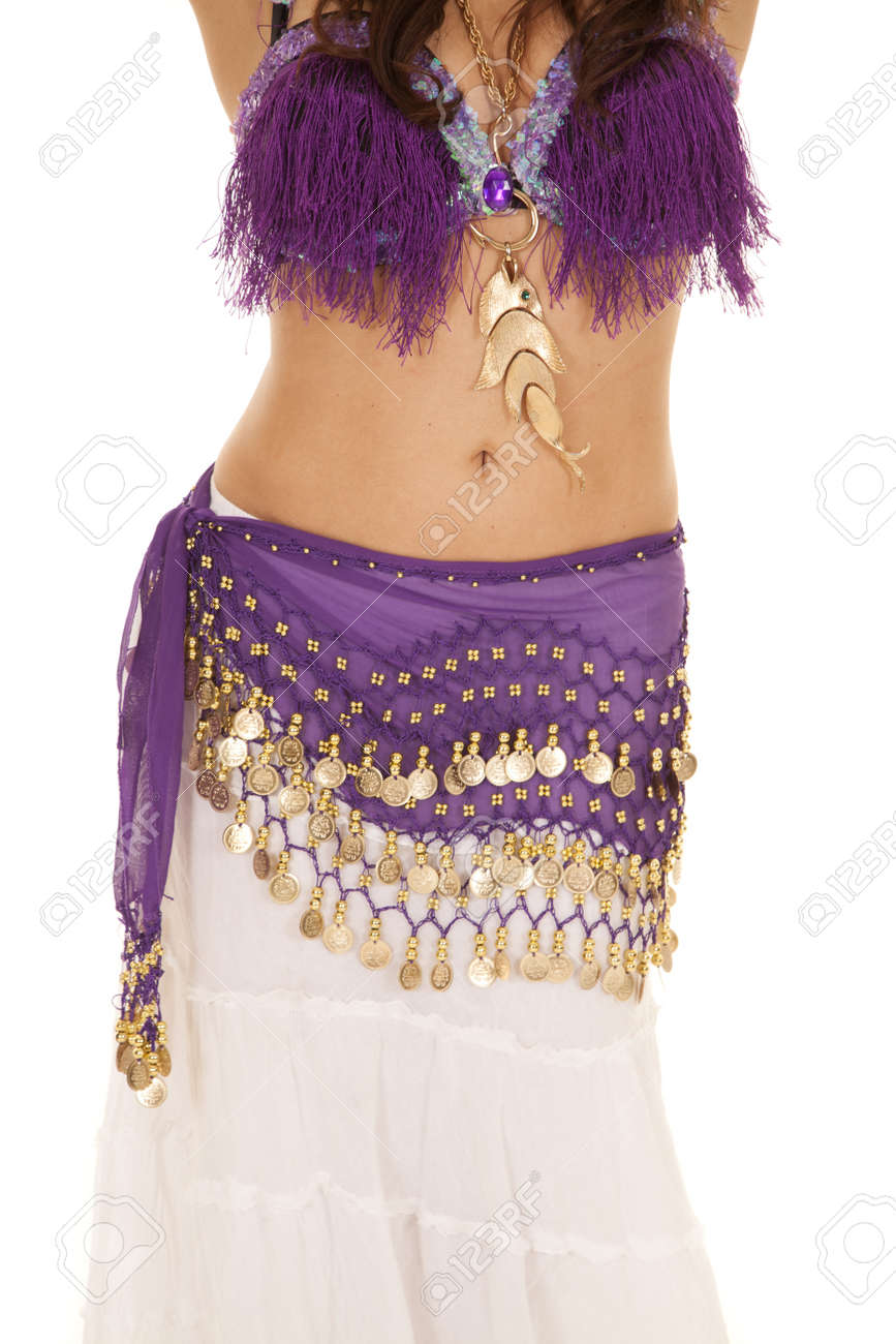 6502debaf A Woman In Her Belly Dancing Clothes Dancing. Stock Photo, Picture ...