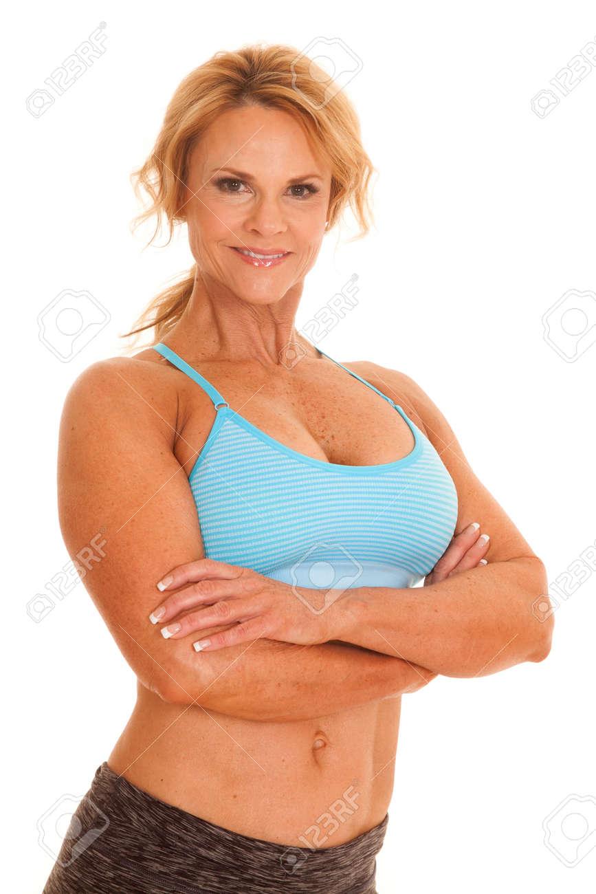 Mature woman bra