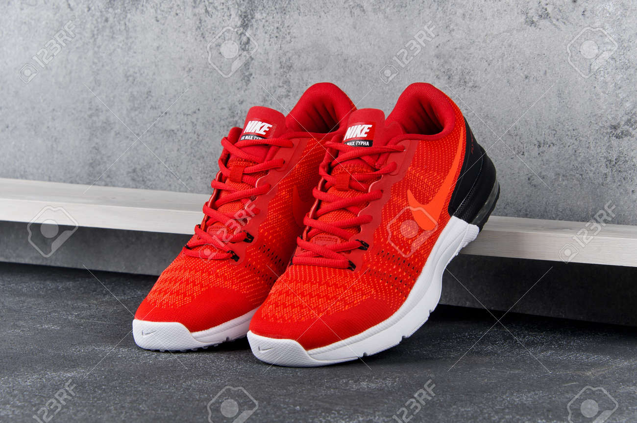 Red Nike Air Max Typha Sneakers