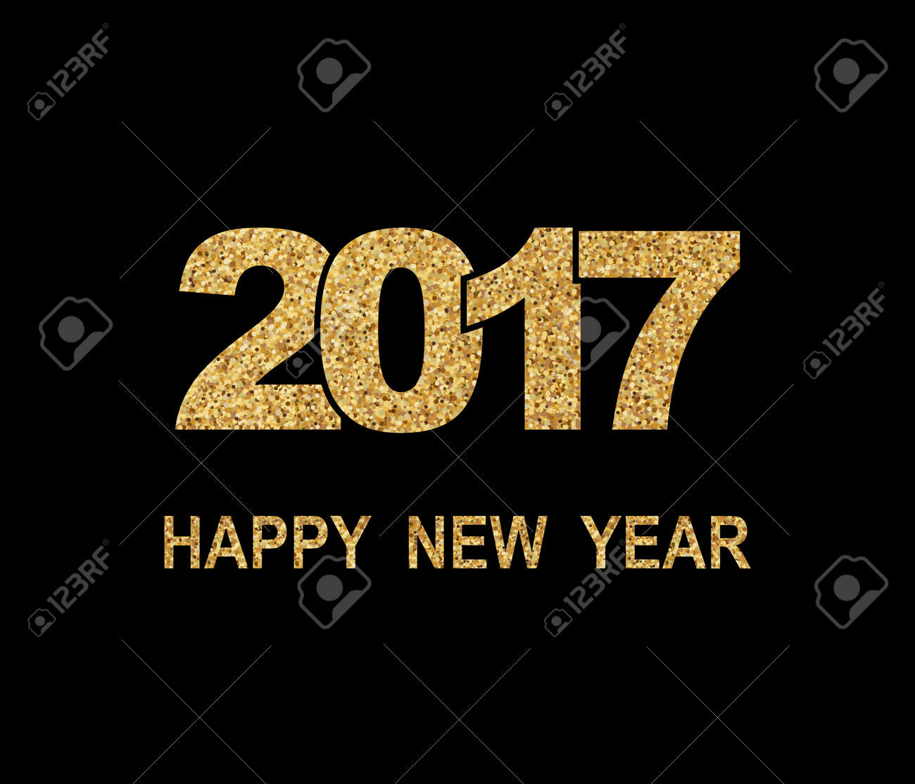 Happy New Year 2017. New Year background - 64951044