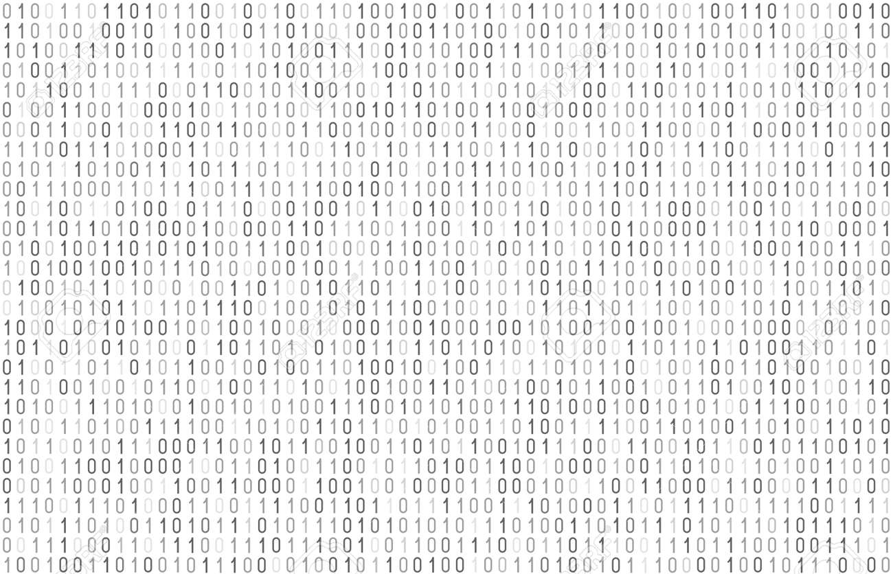 Binary computer code seamless pattern. Matrix background with digits 1.0. Vector illustration. - 167197907