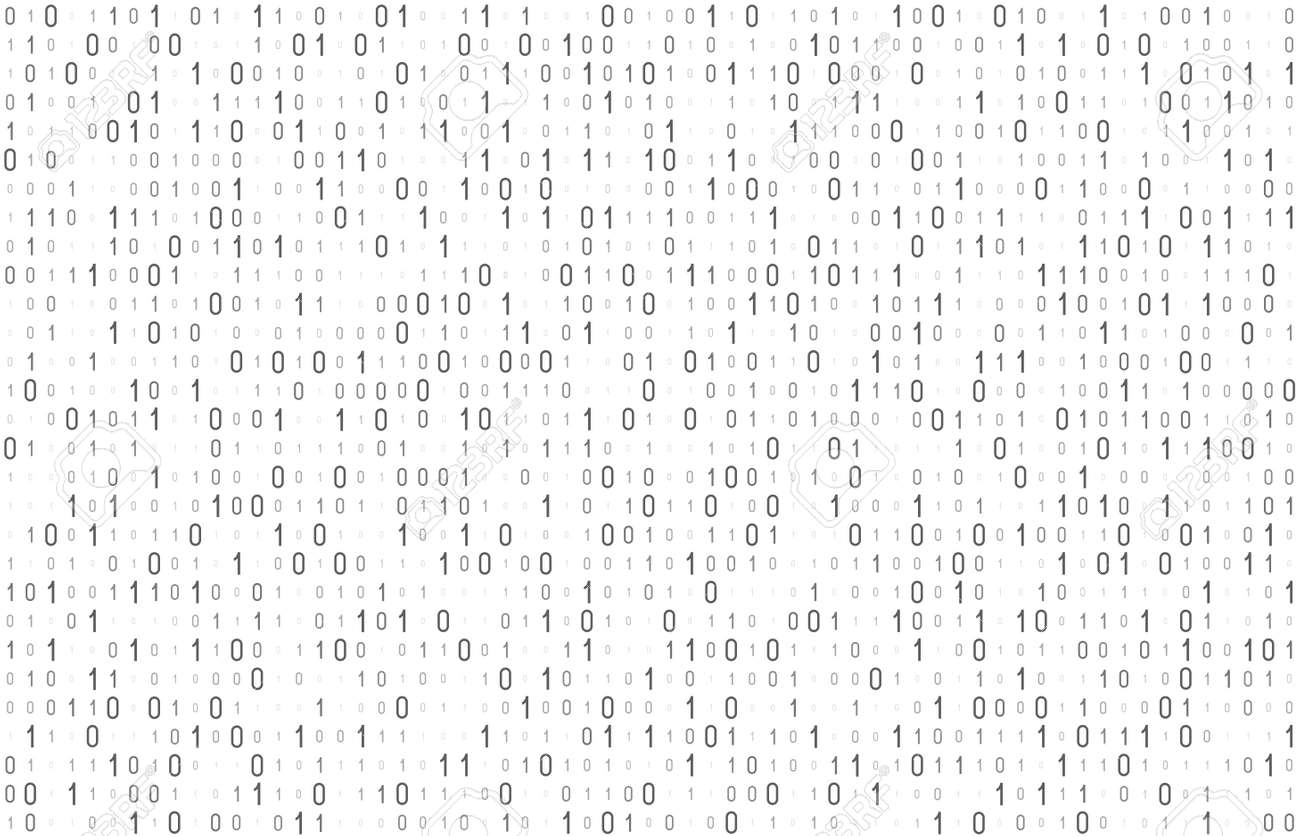 Binary computer code seamless pattern. Matrix background with digits 1.0. Vector illustration. - 167303885