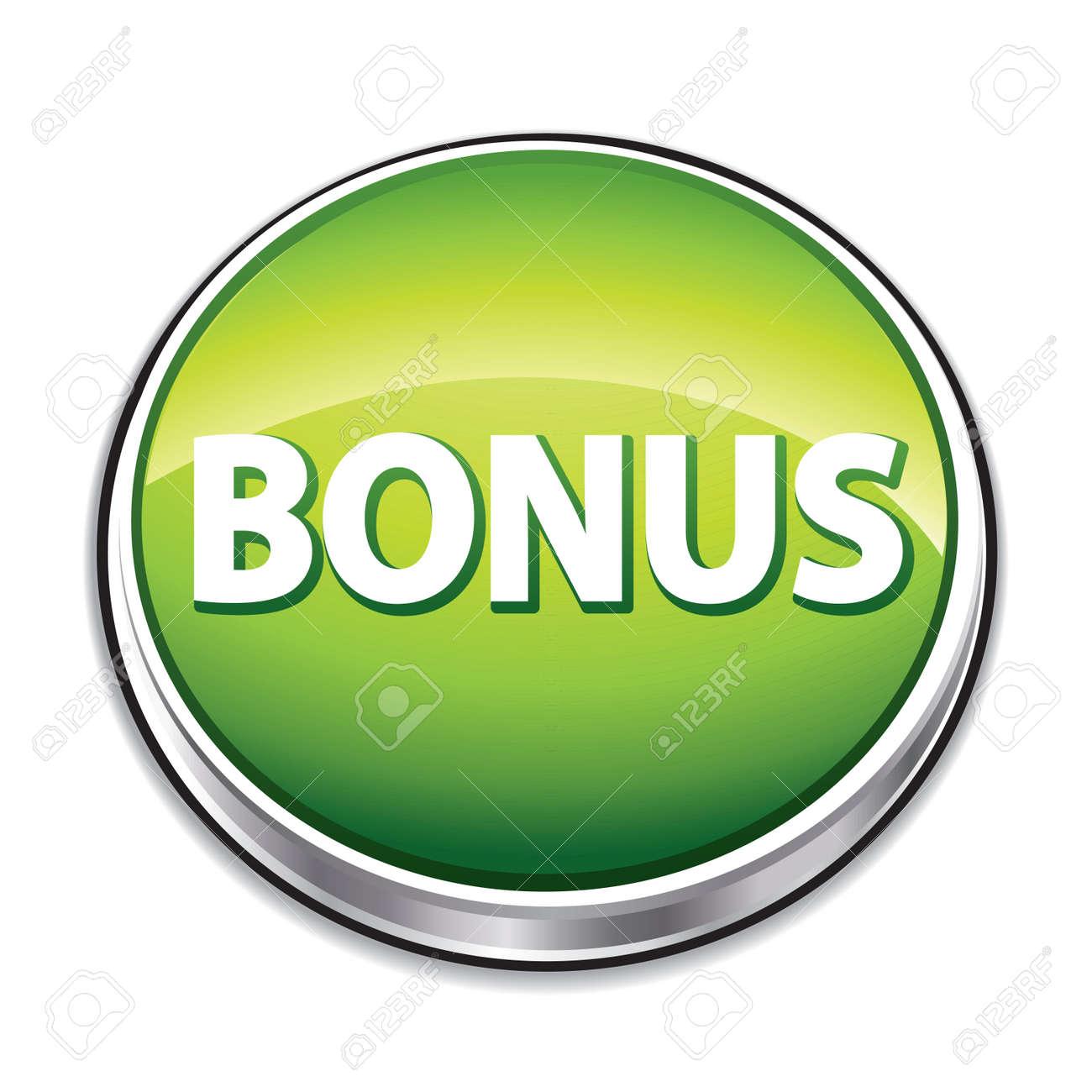 Green bonus button. Stock Vector - 9230370
