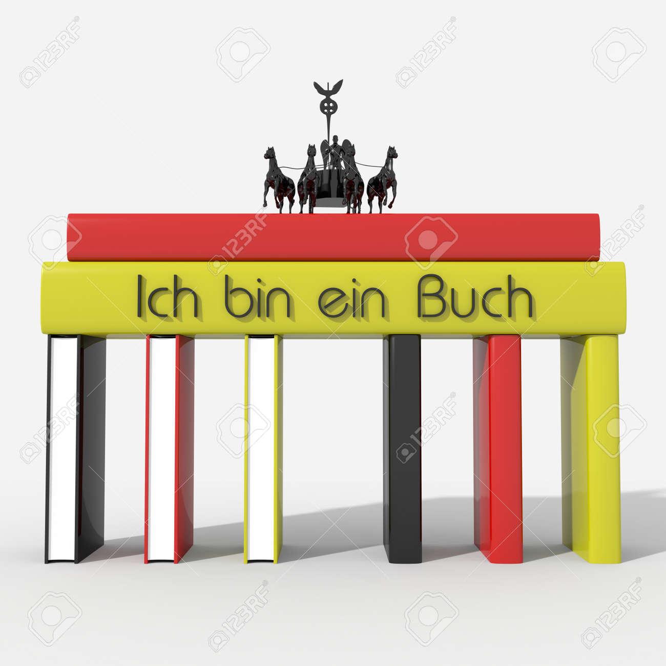 Brandenburger Tor Mit Bücher Farben Und Deutschland \