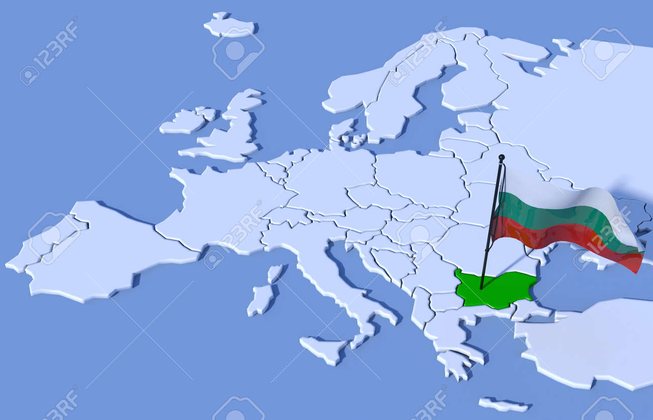 bulgaria map in europe 3d Flag Map Europe Bulgaria Stock Photo Picture And Royalty Free bulgaria map in europe