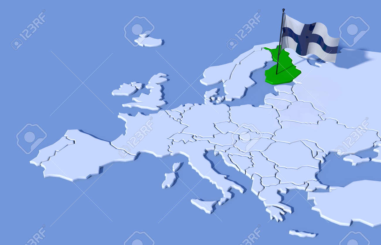 3d map europe finland flag stock photo picture and royalty free 3d map europe finland flag stock photo 37489410 gumiabroncs Image collections