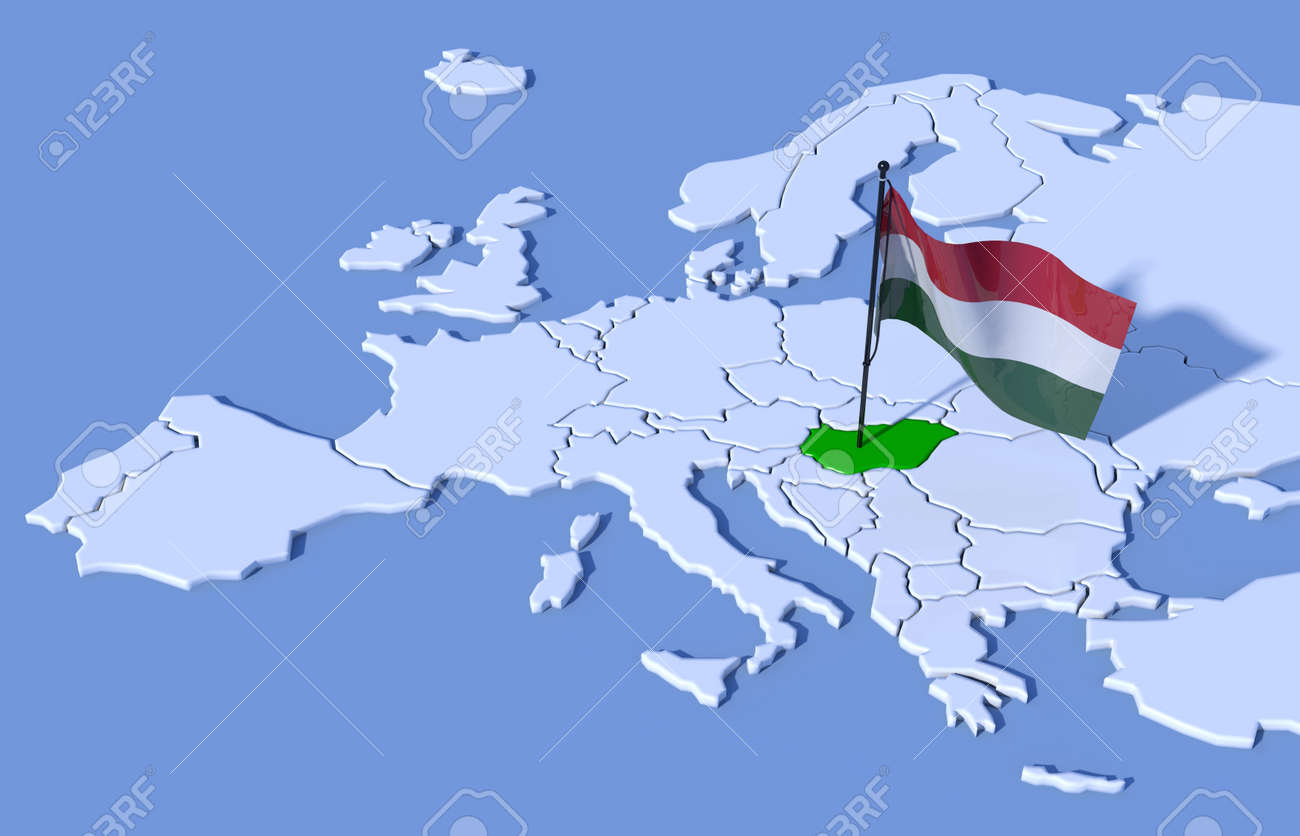 Picture of: 3d Map Of Europe Flag Hungary Stock Photo Picture And Royalty Free Image Image 37489427