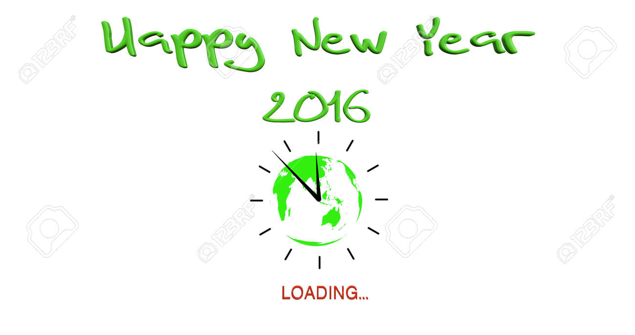 Happy New Year 2016 With Loading Symbol Stock Photo Picture And