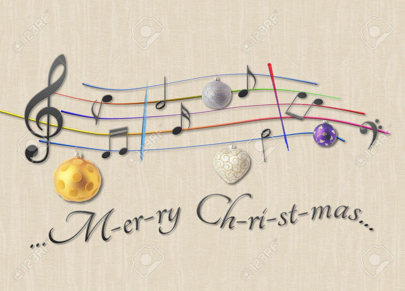 Joyeux Noel Musique Partition De Musique Joyeux Noël Banque D'Images Et Photos Libres