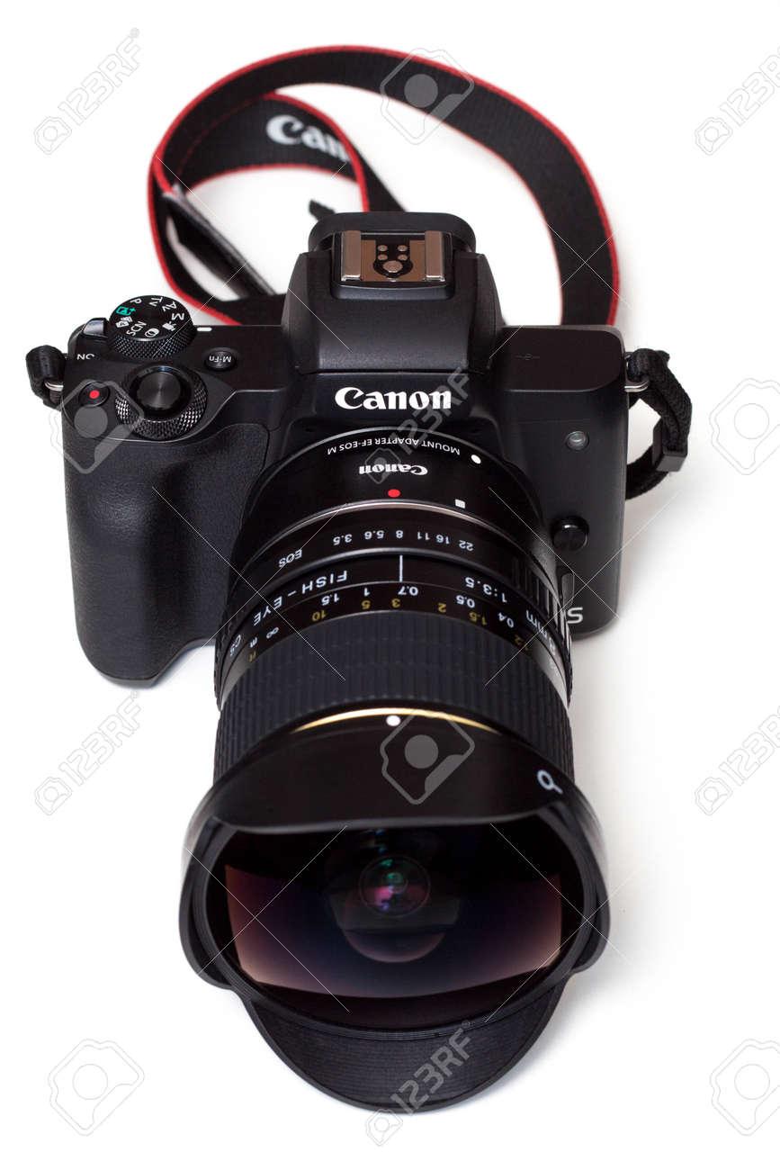 Camera and fisheye lens (8mm) - 142378597