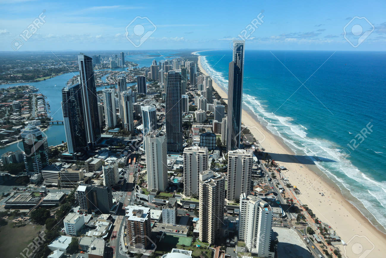 View from a skydeck of the city of Gold Coast - 136254121
