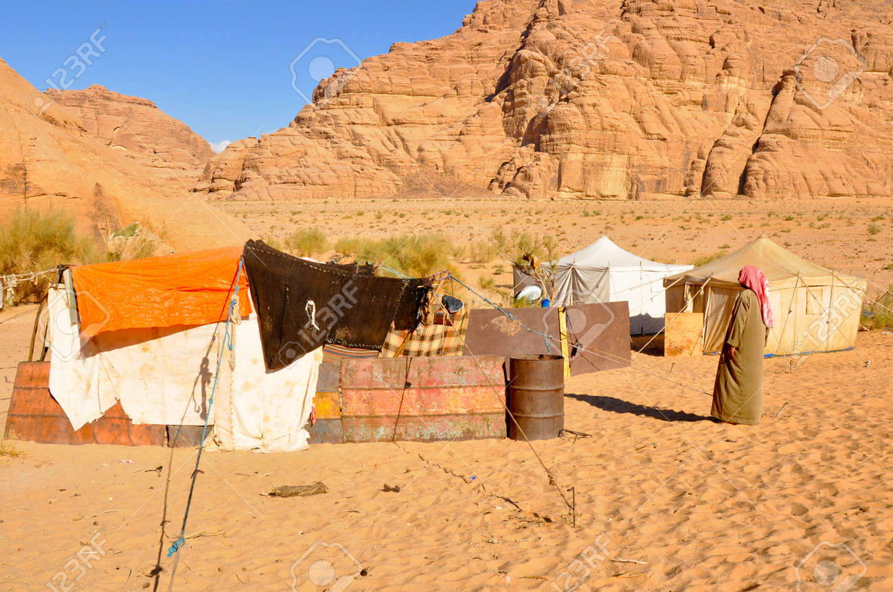 berber tent in thewadi rum desert jordan stock photo picture and