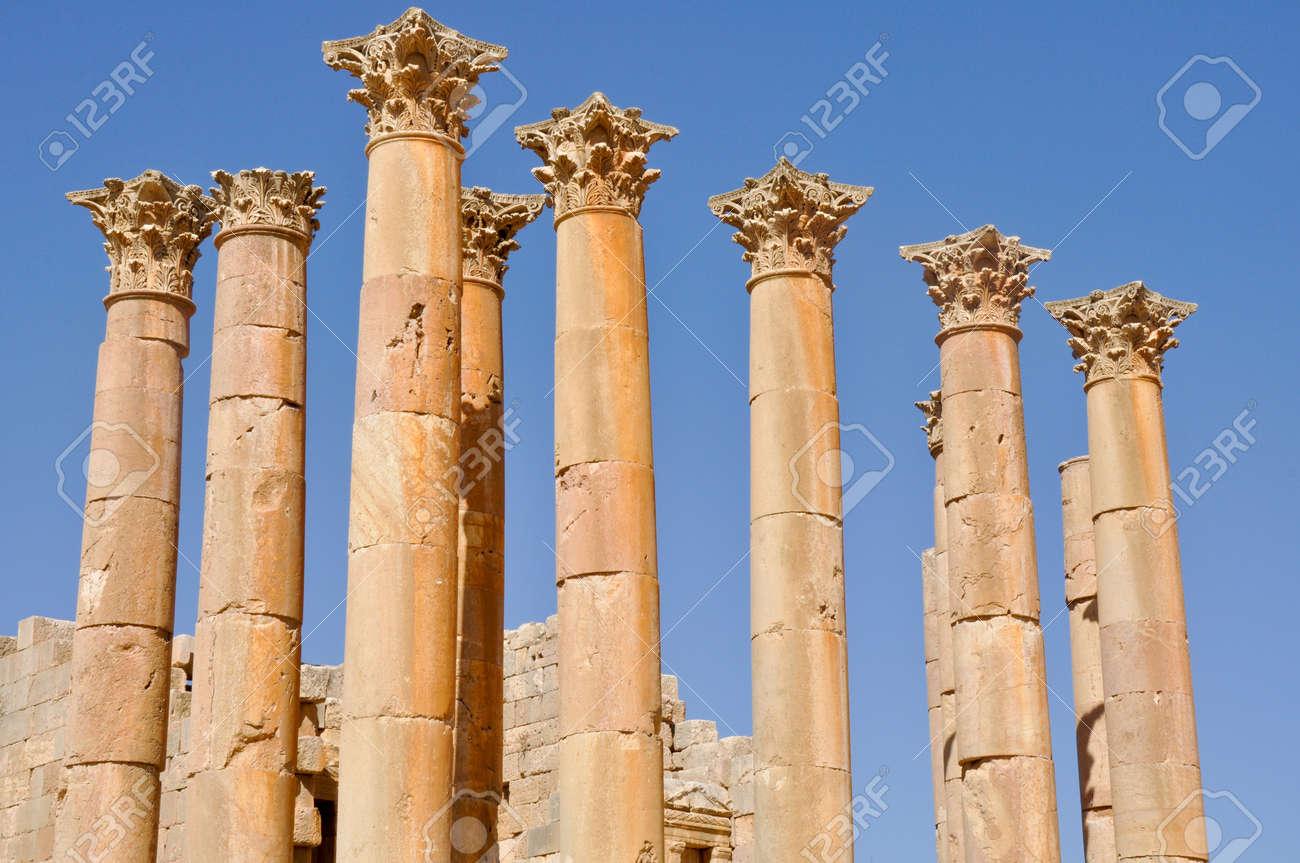 Temple of Zeus, Jerash  Jordan Stock Photo - 14593298