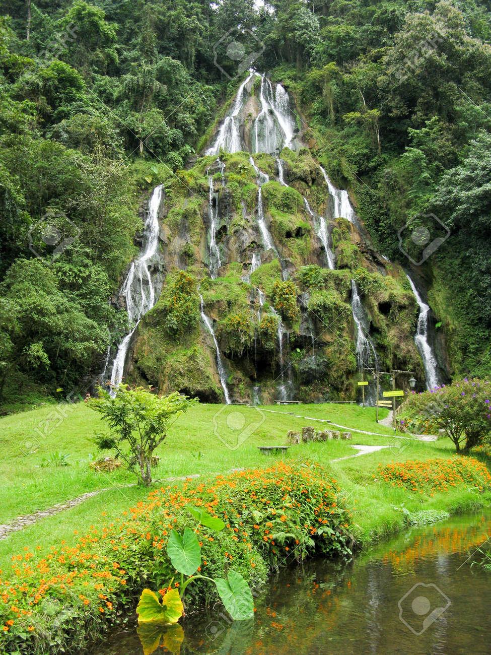 Waterfalls at Santa Rosa de Cabal, Colombia Stock Photo - 16665875