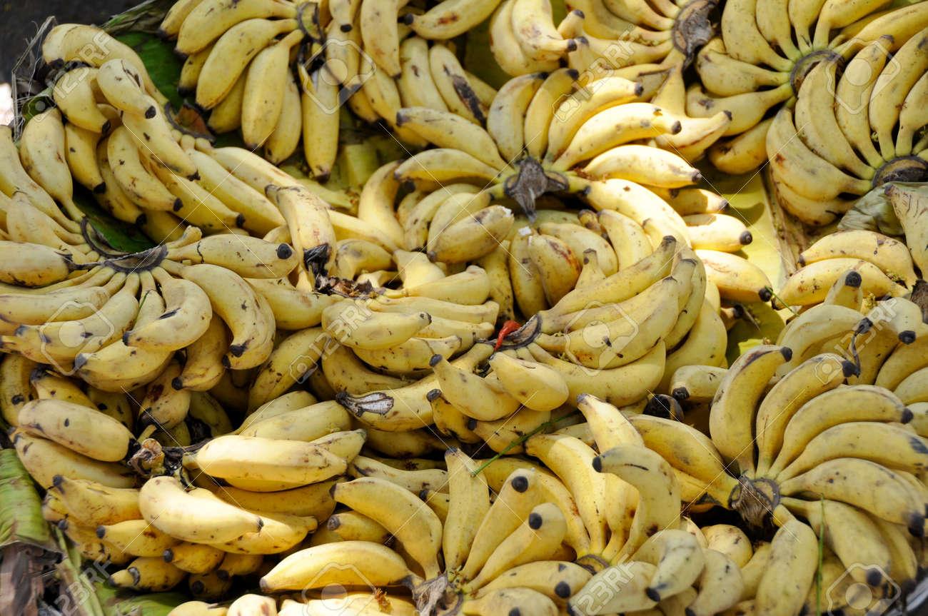 Banana bunches in a street market, Mysore, India Stock Photo - 17897998