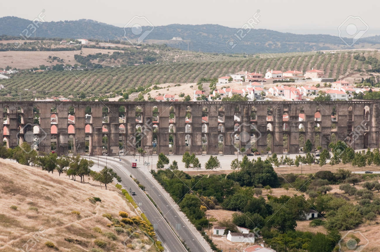 roman aqueduct of elvas portugal stock photo picture and royalty
