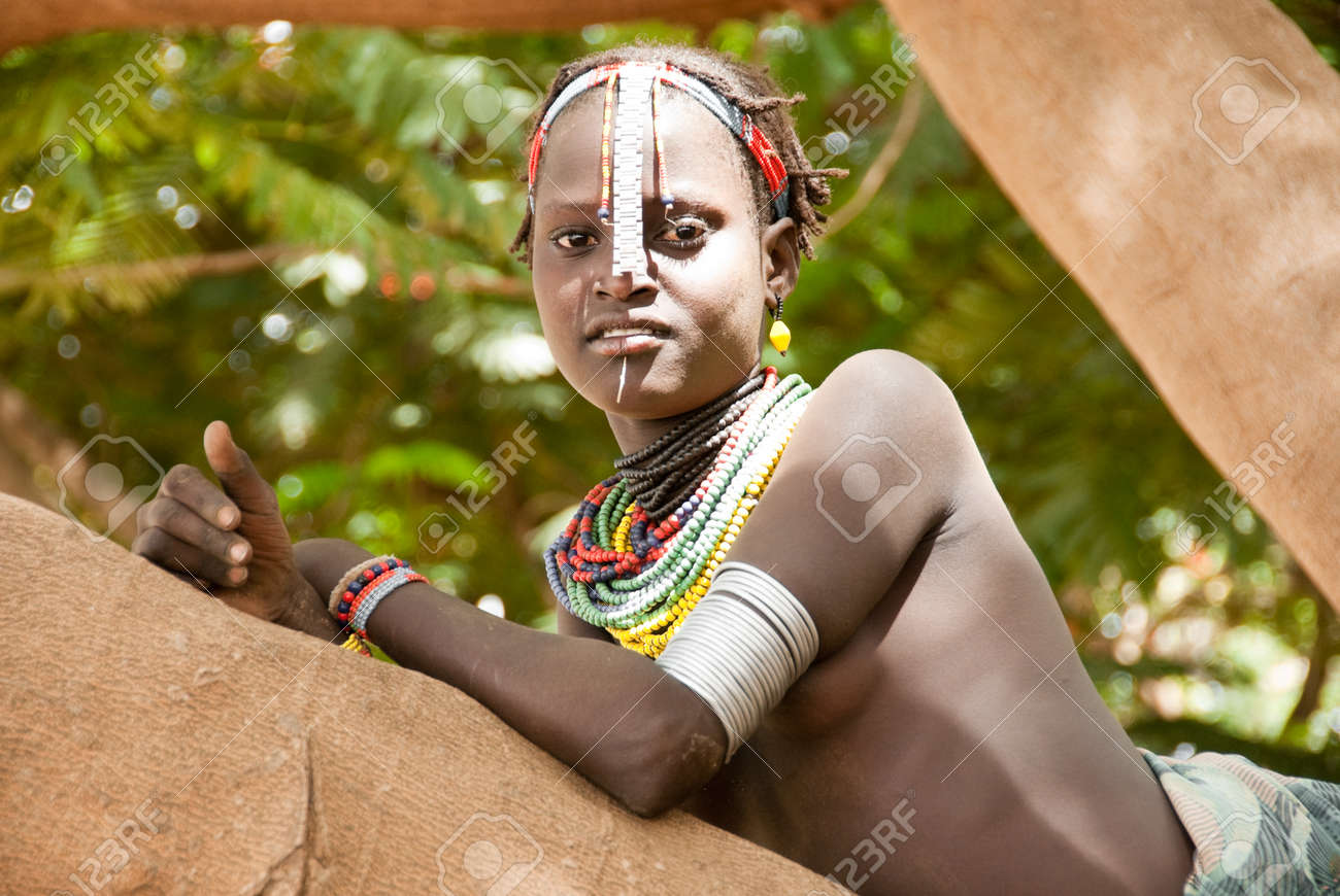 Unidentified girl wears traditional clothes on August 11, 2007,