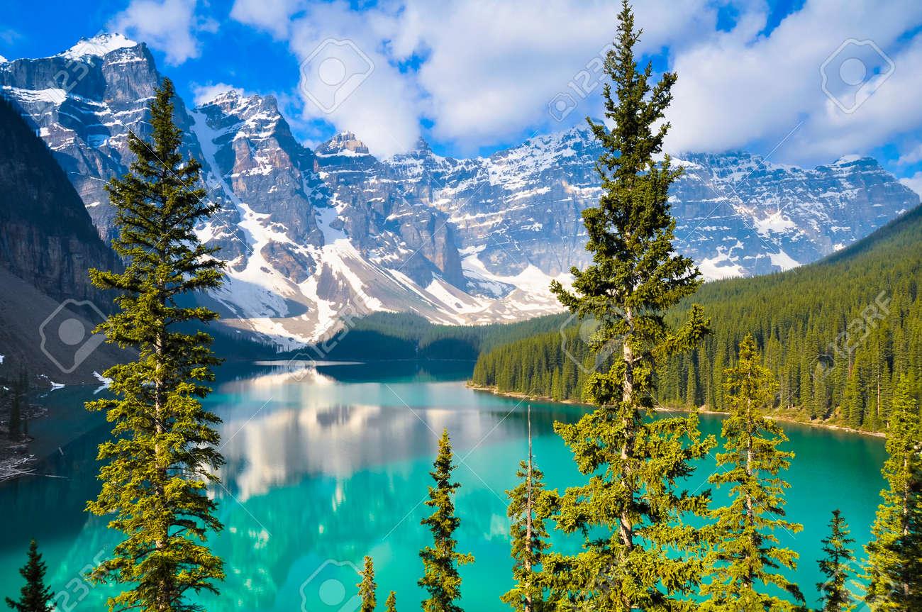Moraine Lake, Rocky Mountains, Canada - 35514164
