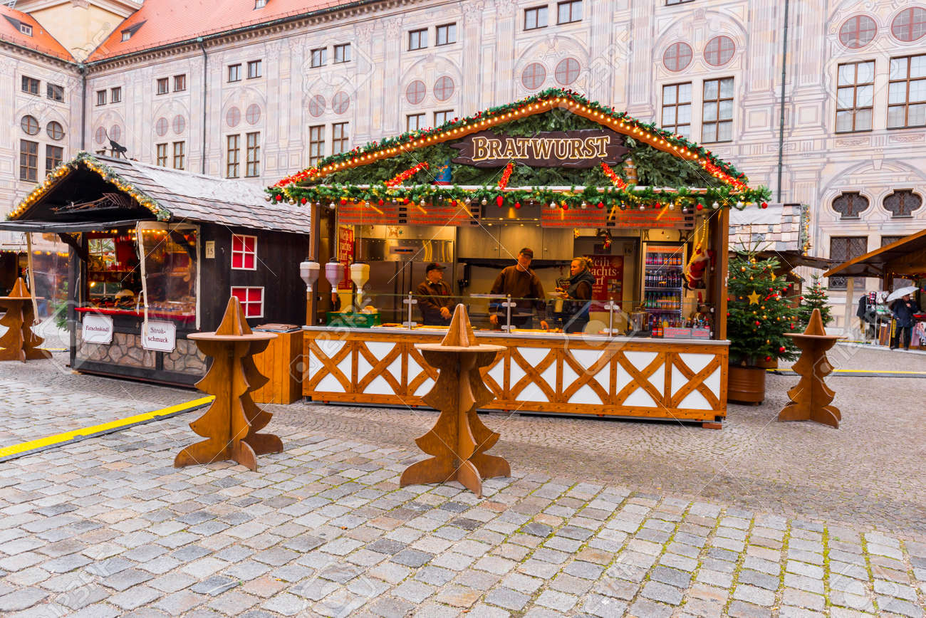 Weihnachtsmarkt Residenz.Stock Photo
