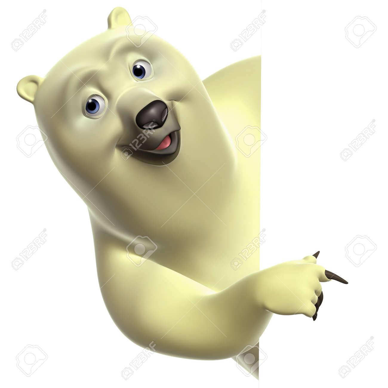 Dessin animé ours blanc